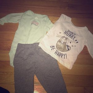 Girls 3mos pant and shirts